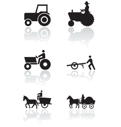 Farmer symbol set vector