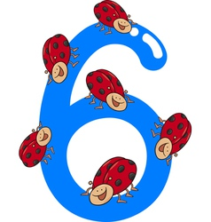 Number six vector