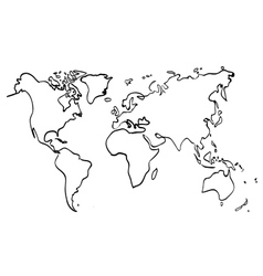 World map on white background vector