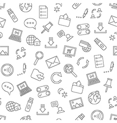 Pattern communication black icons vector