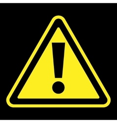 attention sign on black background vector image