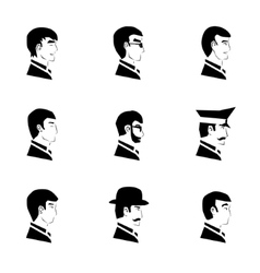 Avatar Collection of Stylish Handsome Male vector image vector image