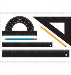 Black ruler vector