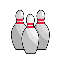 Color bowling funny play icon vector