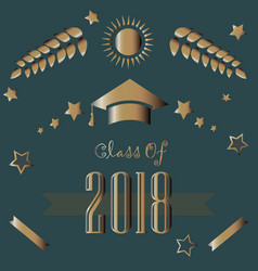 Graduation class of year 2018 vector