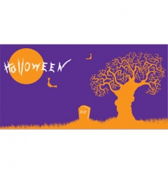 Halloween silhouette vector image vector image