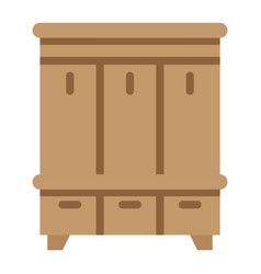 Hallway closet flat icon furniture and interior vector