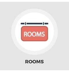 Hotel icon flat vector image vector image