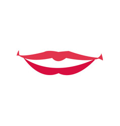 Lips woman mouth makeup lipstick vector