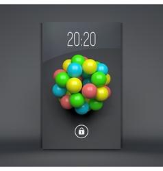 Lock screen for mobile apps mobile wallpaper vector