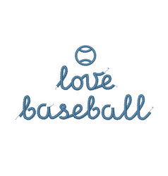 Love baseball decoration vector