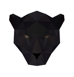 Low poly panther vector