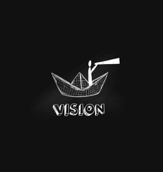 Metaphor of intuition and vision vector