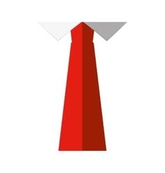 Orange necktie fashion shirt father day vector