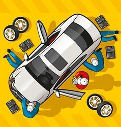 Repair Car Station vector image vector image