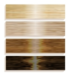 Set the boards of various wood laminated flooring vector