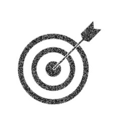 target with dart black icon from many vector image