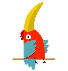 Toucan Bird with Big Beak Sitting vector image vector image