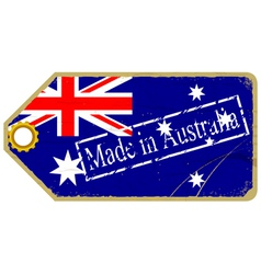 Vintage label with the flag of australia vector