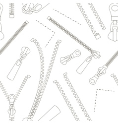 Zipper set pattern vector