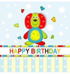 Children Scrapbook Birthday Card vector image