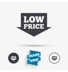 Low price sign icon special offer symbol vector