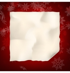 Christmas sheet of curved paper EPS 10 vector image