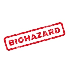 Biohazard text rubber stamp vector