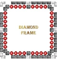 Diamonds square frame vector image