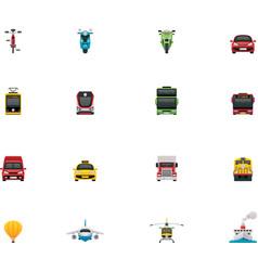 transportation icon set vector image