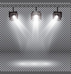 Scene illumination effects with spotlights on vector