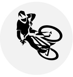 Bicycle racer extreme vector