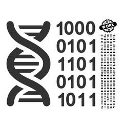 Genetical code icon with men bonus vector