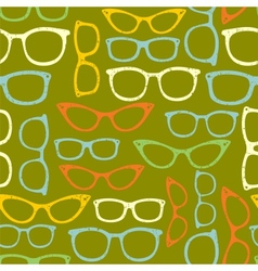 Seamless pattern with eyeglasses vector