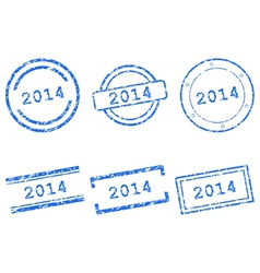 2014 stamps vector image vector image