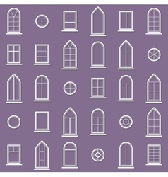 Different types of windows eps10 vector
