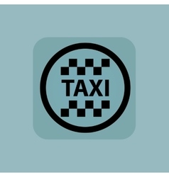 Pale blue taxi sign vector