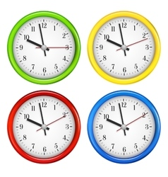 Wall clocks vector
