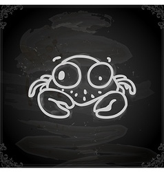Hand drawn crab vector
