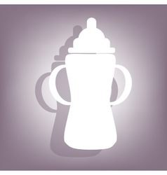 Baby bottle icon vector