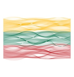 Wave line flag of lithuania vector