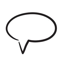 Hand drawn bubble dialog icon vector