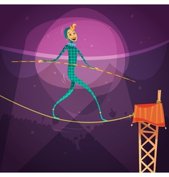 Ropewalker cartoon vector