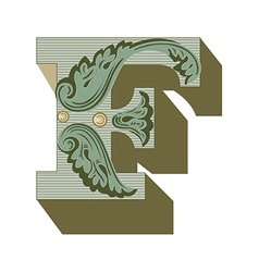 western letter g vector image