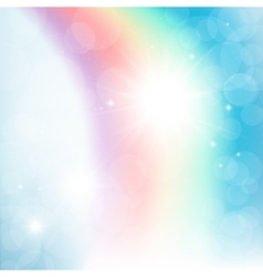 Abstract rainbow in the sky vector