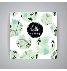 Artistic creative Hand Drawn spring Design vector image vector image