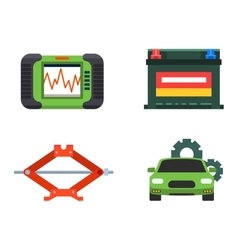 Car service repair icons set vector