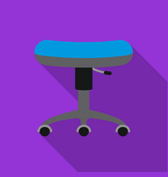 Chair rolling icon flate single tattoo icon from vector