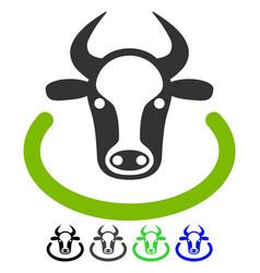 Cow area flat icon vector