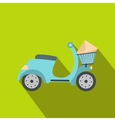 Delivery scooter flat vector